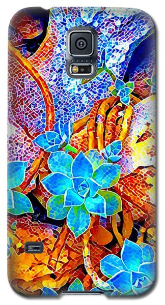 Succulents On River Rock Galaxy S5 Case