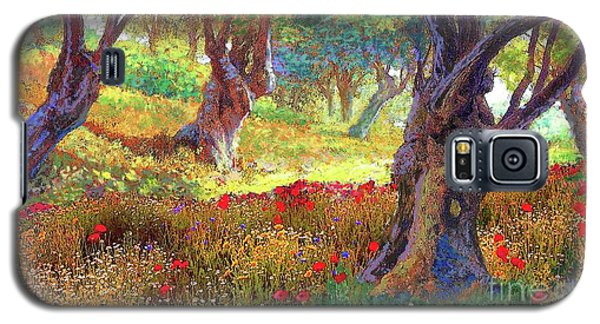 Tranquil Grove Of Poppies And Olive Trees Galaxy S5 Case