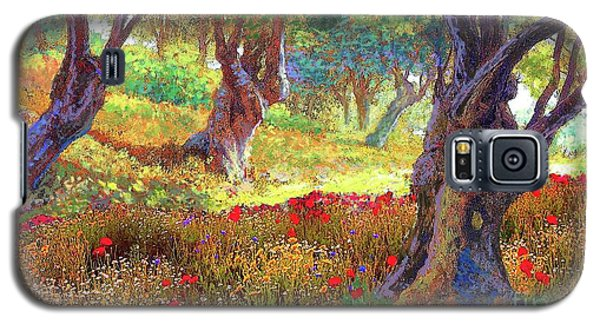 Daisy Galaxy S5 Case - Tranquil Grove Of Poppies And Olive Trees by Jane Small