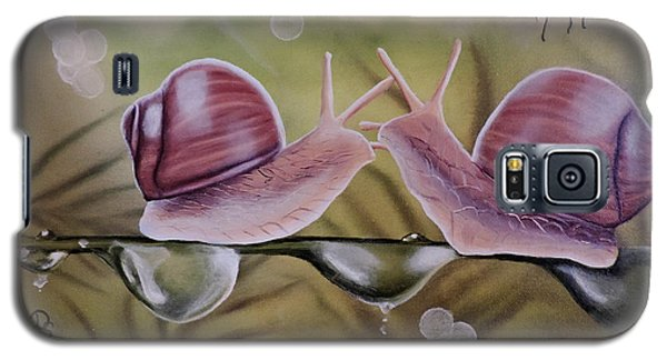Sue And Sammy Snail Galaxy S5 Case by Dianna Lewis