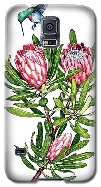 Galaxy S5 Case featuring the painting Sugarbush And The Humming Bird by Heidi Kriel