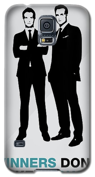 Suits Tv Show Poster Harvey Quote - Winners Don't Make Excuses Galaxy S5 Case
