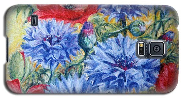 Galaxy S5 Case featuring the painting Summer Abundance by Rosemary Colyer