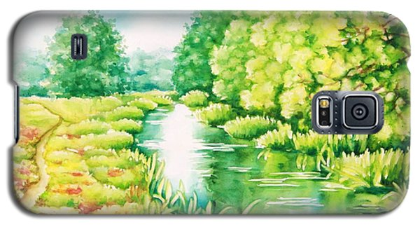 Galaxy S5 Case featuring the painting Summer Along The Creek by Inese Poga