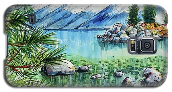Galaxy S5 Case featuring the painting Summer At Lake Tahoe by Terry Banderas
