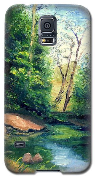 Galaxy S5 Case featuring the painting Summer At Storm by Gail Kirtz