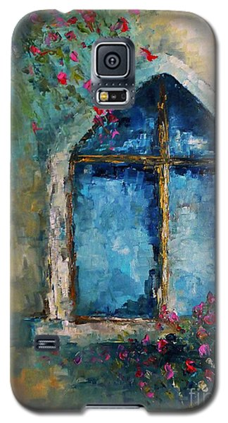 Galaxy S5 Case featuring the painting Summer At The Old Castle by AmaS Art