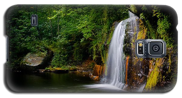 Galaxy S5 Case featuring the photograph Summer At Wolf Creek Falls by Rikk Flohr