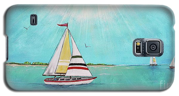Galaxy S5 Case featuring the painting Summer Breeze-b by Jean Plout