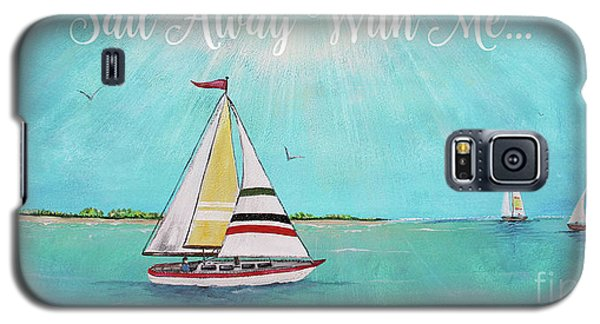 Galaxy S5 Case featuring the painting Summer Breeze-c by Jean Plout
