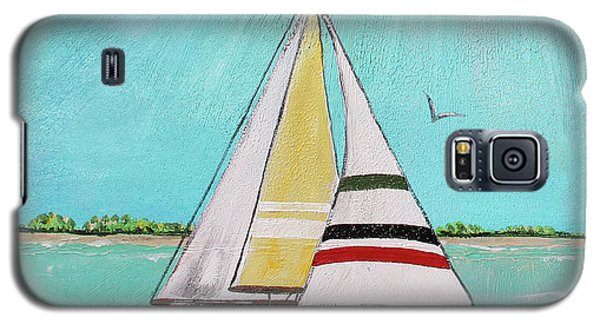 Galaxy S5 Case featuring the painting Summer Breeze-d by Jean Plout