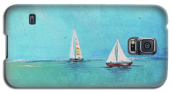 Galaxy S5 Case featuring the painting Summer Breeze-e by Jean Plout