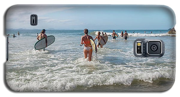 Galaxy S5 Case featuring the photograph Summer Days Byron Waves by Az Jackson