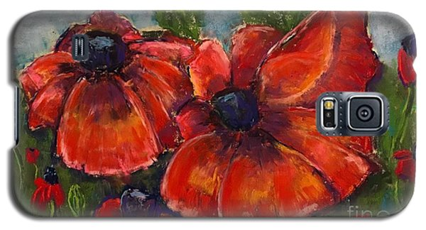 Summer Field Of Poppies Galaxy S5 Case