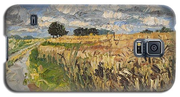 Summer Fields Plein Air Landscape Galaxy S5 Case by Martin Stankewitz