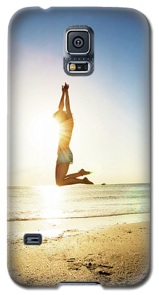 Summer Fitness Girl Galaxy S5 Case