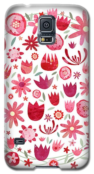 Summer Flower Circle Galaxy S5 Case by Nic Squirrell
