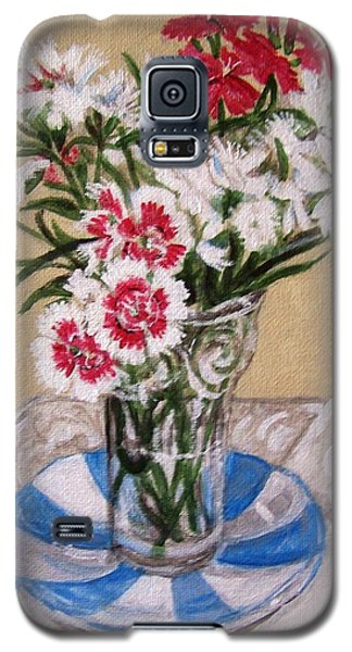 Galaxy S5 Case featuring the painting Summer Flowers by Laura Aceto