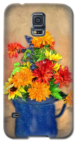 Summer Flowers Galaxy S5 Case by Mary Timman