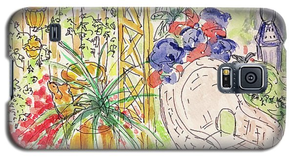 Galaxy S5 Case featuring the drawing Summer Garden by Barbara Anna Knauf
