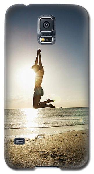 Summer Girl Summer Jump  Galaxy S5 Case