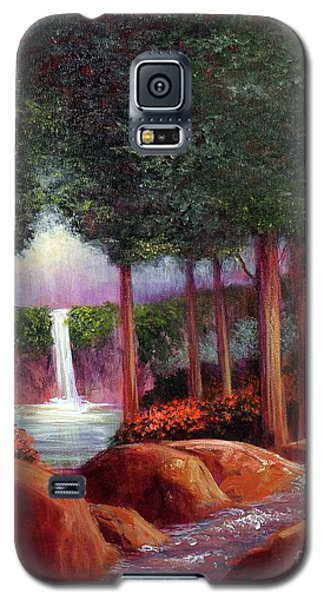 Galaxy S5 Case featuring the painting Summer In The Garden Of Eden by Randol Burns