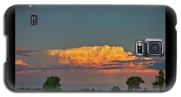 Galaxy S5 Case featuring the photograph Summer Night Storms Brewing And Moon Above by James BO Insogna