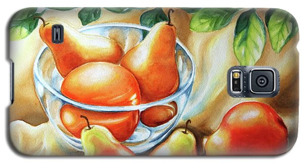 Galaxy S5 Case featuring the painting Summer Pears by Inese Poga