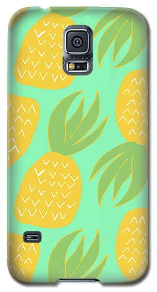 Summer Pineapples Galaxy S5 Case by Allyson Johnson