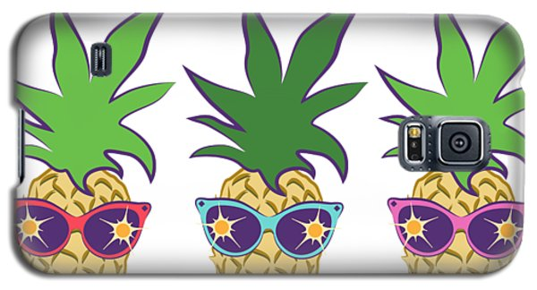 Summer Pineapples Wearing Retro Sunglasses Galaxy S5 Case