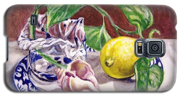 Galaxy S5 Case featuring the painting Summer Plate by Laura Aceto
