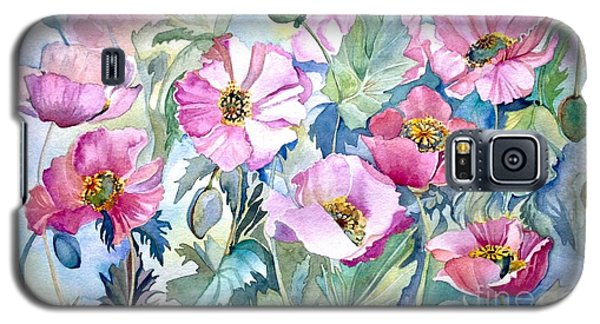 Galaxy S5 Case featuring the painting Summer Poppies by Iya Carson