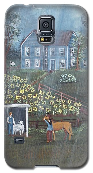 Galaxy S5 Case featuring the painting Summer Rain by Virginia Coyle