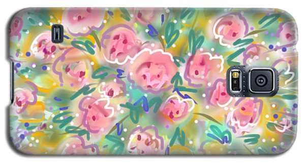 Galaxy S5 Case featuring the painting Summer Scarf by Jean Pacheco Ravinski