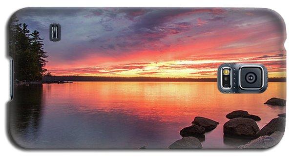 Summer Sets Over Sebago Lake, Maine Galaxy S5 Case
