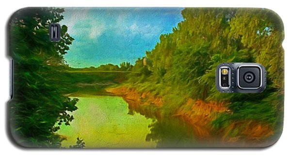 Summer Soft Morning Creek Galaxy S5 Case