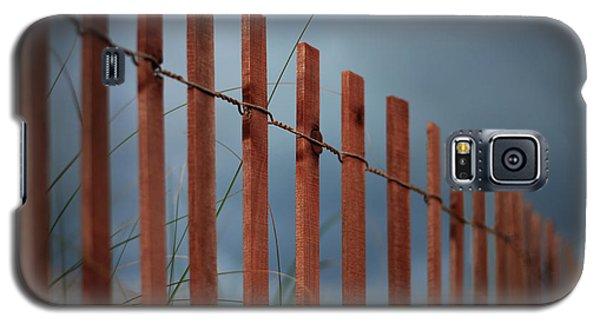 Galaxy S5 Case featuring the photograph Summer Storm Beach Fence by Laura Fasulo