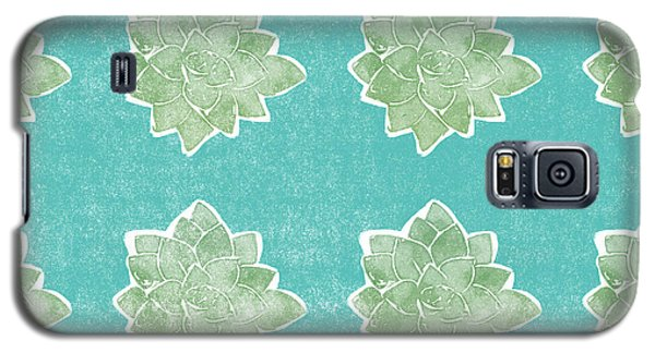 Galaxy S5 Case featuring the mixed media Summer Succulents- Art By Linda Woods by Linda Woods