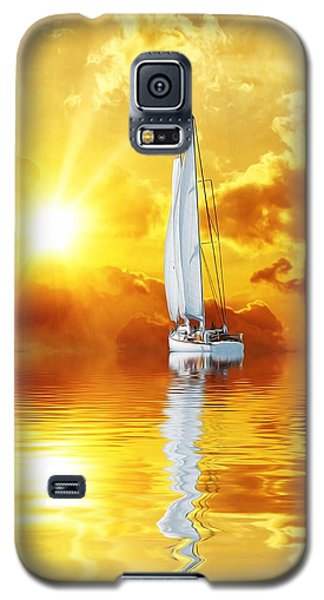 Galaxy S5 Case featuring the mixed media Summer Sun And Fun by Gabriella Weninger - David