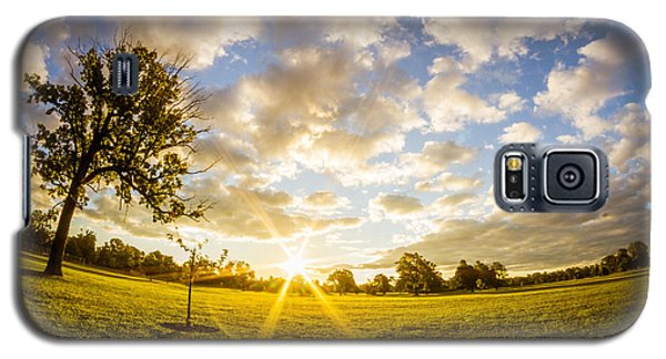Summer Sunrise Across Delware Park Meadow Galaxy S5 Case by Chris Bordeleau