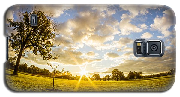 Summer Sunrise Across Delware Park Meadow Galaxy S5 Case