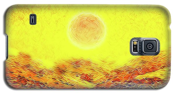 Galaxy S5 Case featuring the digital art Summer Sunset Field - Trail In Marin California by Joel Bruce Wallach