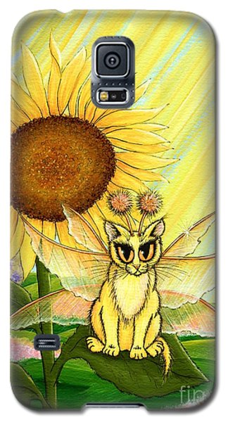 Galaxy S5 Case featuring the painting Summer Sunshine Fairy Cat by Carrie Hawks
