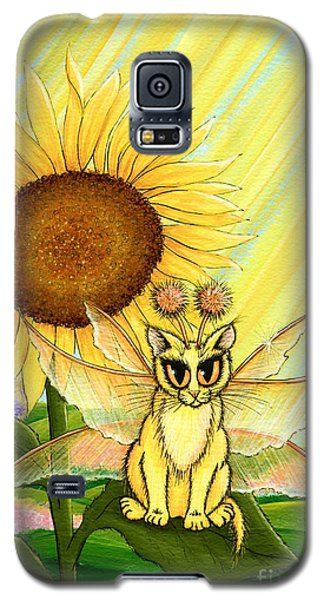Summer Sunshine Fairy Cat Galaxy S5 Case by Carrie Hawks