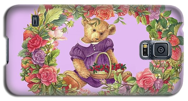 Summer Teddy Bear With Roses Galaxy S5 Case