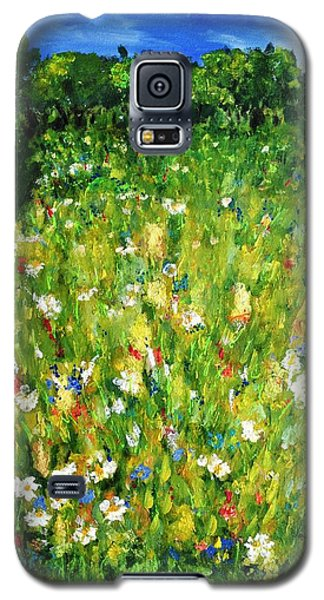 Galaxy S5 Case featuring the painting The Glade by Evelina Popilian