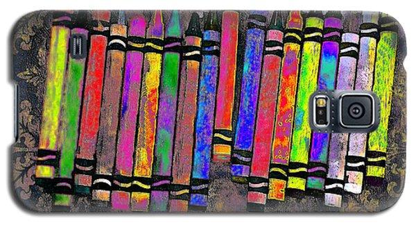 Galaxy S5 Case featuring the digital art Summer's Crayon Love by Iowan Stone-Flowers