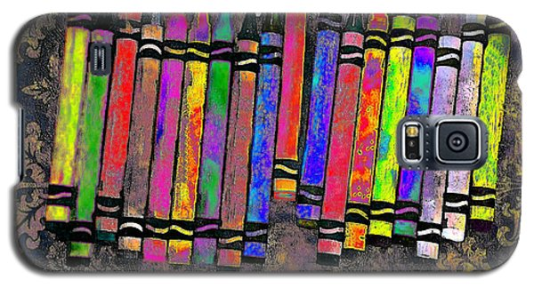 Summer's Crayon Love Galaxy S5 Case by Iowan Stone-Flowers