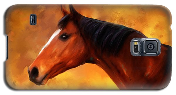 Summers End Quarter Horse Painting Galaxy S5 Case