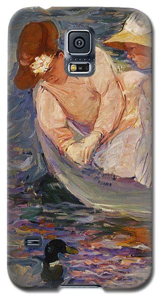 Galaxy S5 Case featuring the painting Summertime By Mary Cassatt 1894 by Movie Poster Prints
